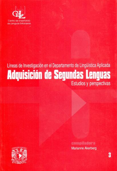 Cubierta para Adquisición de segundas lenguas. Estudios y perspectivas